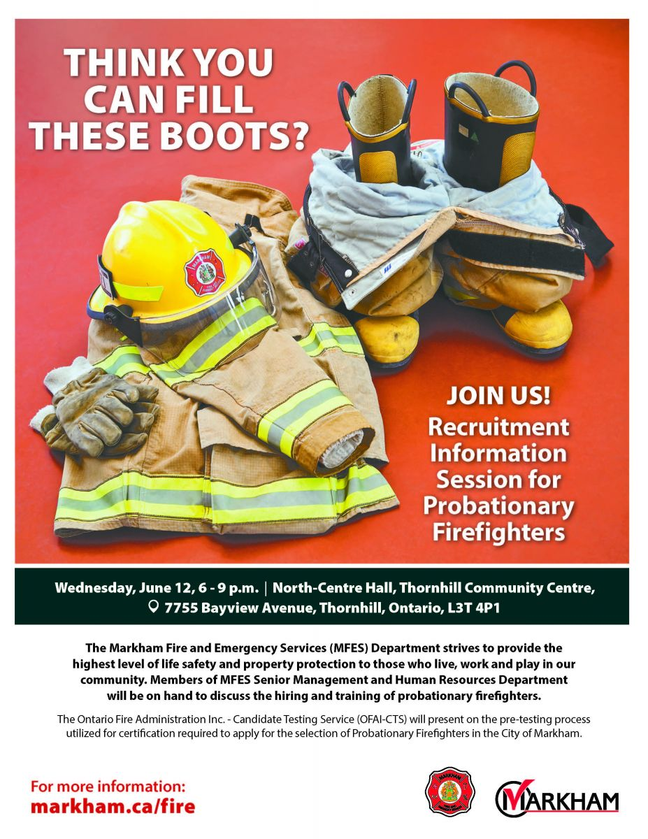 Markham Fire and Emergency Services Recruitment Information Session